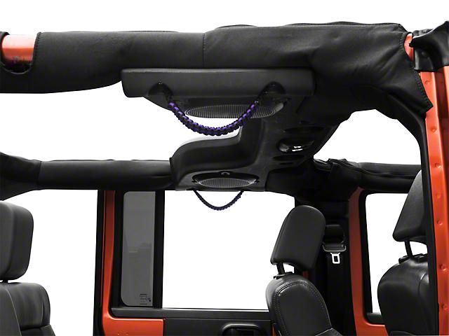 RedRock 4x4 Rear Soundbar Paracord Grab Handles - Black and Purple (07-17 Jeep Wrangler JK 4 Door)