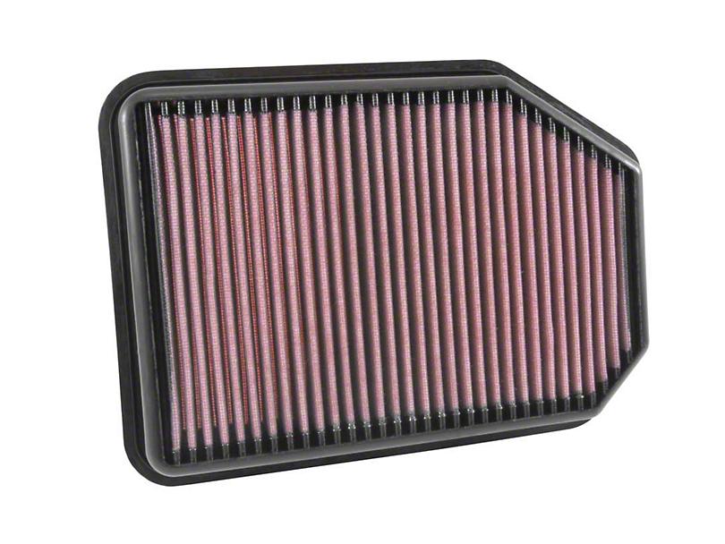 K&N Drop-In Replacement Air Filter (07-18 2.8L Jeep Wrangler JK)