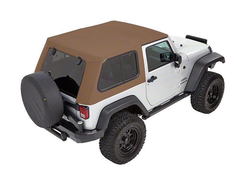 Bestop Trektop Pro Hybrid Soft Top - Tan Twill (07-18 Jeep Wrangler JK 2 Door)