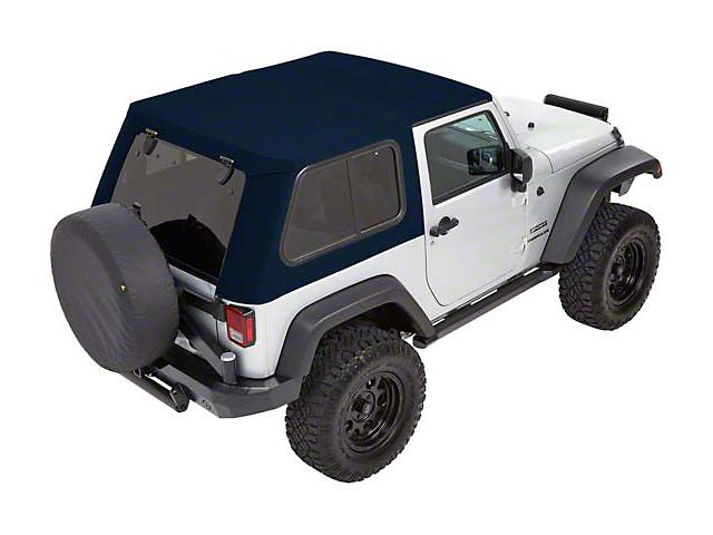 Bestop Trektop Pro Hybrid Soft Top - Blue Twill (07-18 Jeep Wrangler JK 4 Door)