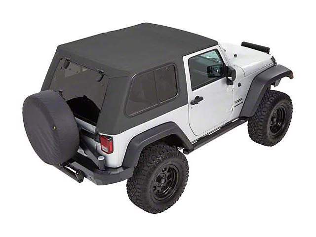 Bestop Trektop Pro Hybrid Soft Top - Gray Twill (07-18 Jeep Wrangler JK 4 Door)