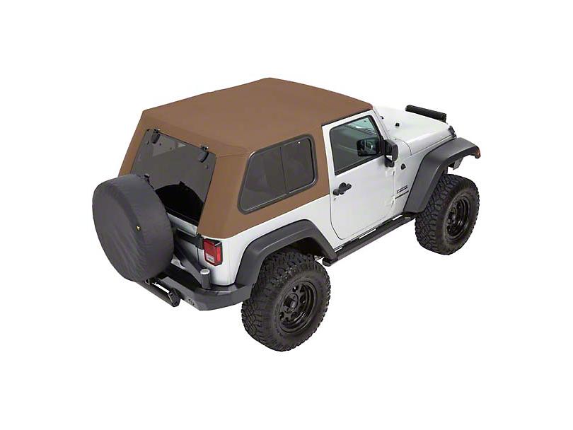 Bestop Trektop Pro Hybrid Soft Top - Tan Twill (07-18 Jeep Wrangler JK 4 Door)