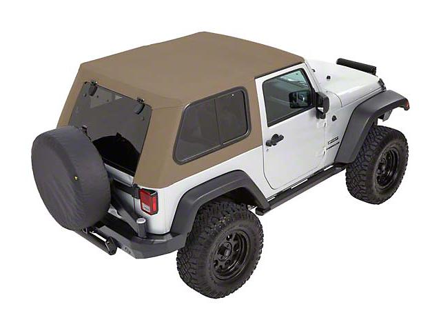 Bestop Trektop Pro Hybrid Soft Top - Beige Twill (07-18 Jeep Wrangler JK 4 Door)