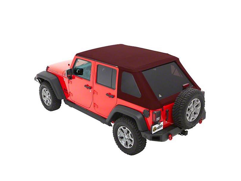 Bestop The All New Trektop NX Soft Top - Red Twill (07-18 Jeep Wrangler JK 4 Door)