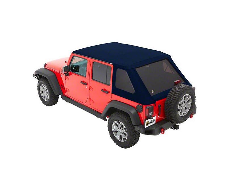 Bestop The All New Trektop NX Soft Top - Blue Twill (07-18 Jeep Wrangler JK 4 Door)