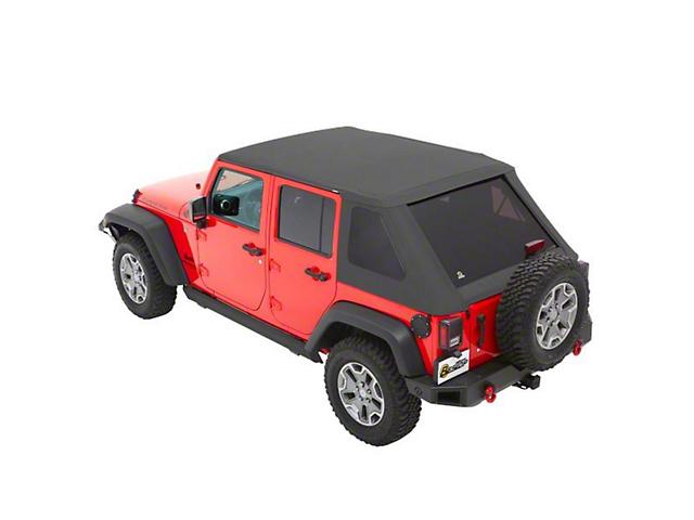 Bestop The All New Trektop NX Soft Top - Gray Twill (07-18 Jeep Wrangler JK 4 Door)