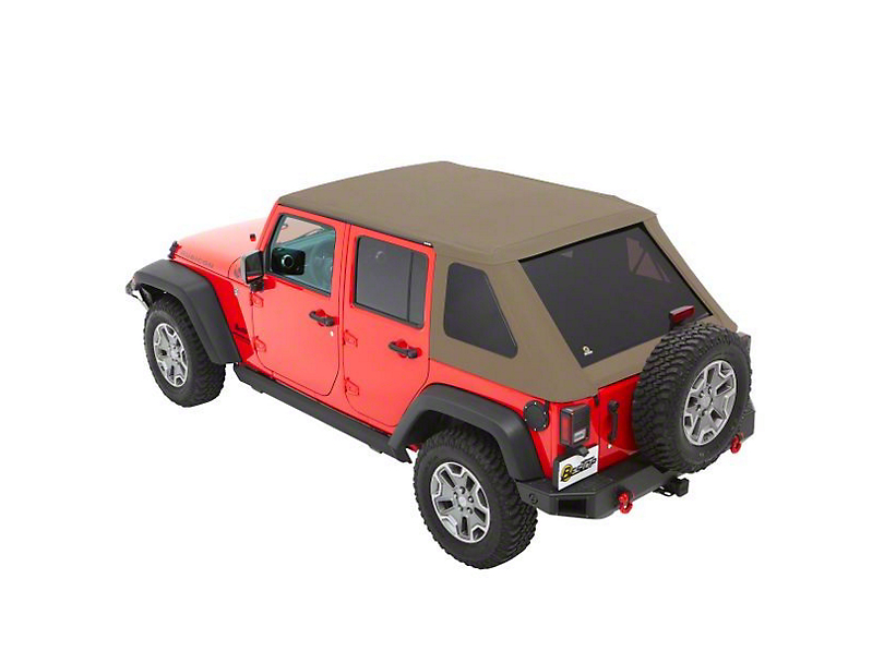 Bestop The All New Trektop NX Soft Top - Tan Twill (07-18 Jeep Wrangler JK 4 Door)