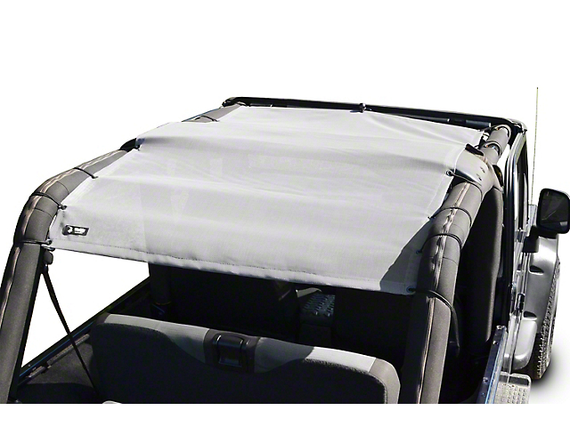 Steinjager Teddy Top Full Length Solar Screen Cover; Gray (04-06 Jeep Wrangler TJ Unlimited)
