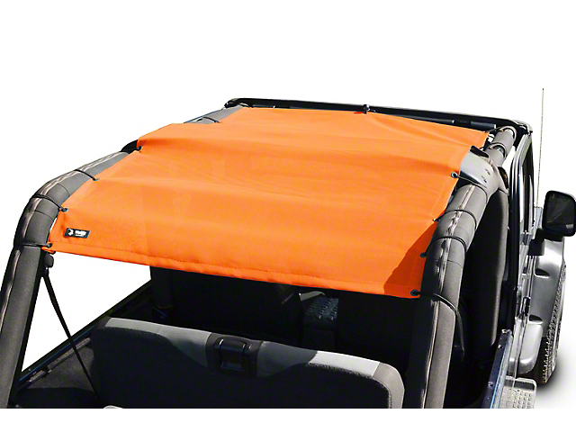 Steinjager Teddy Top Full Length Solar Screen Cover - Orange (04-06 Jeep Wrangler TJ Unlimited)