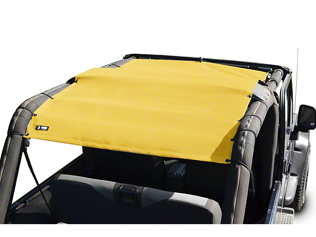 Steinjager Teddy Top Full Length Solar Screen Cover - Yellow (04-06 Jeep Wrangler TJ Unlimited)
