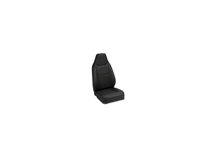 Bestop Trailmax II Standard Fixed High-Back Position Front Bucket Seat - Black Crush (87-06 Jeep Wrangler YJ & TJ)