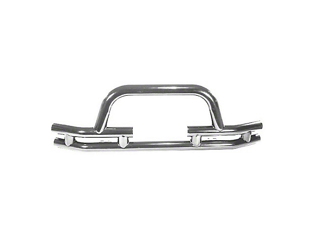 Rugged Ridge Tubular Front Bumper w/ Winch Cutout - Stainless Steel (87-06 Jeep Wrangler YJ & TJ)