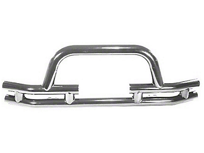 Rugged Ridge Tubular Front Bumper w/ Winch Cutout - Stainless Steel (87-06 Wrangler YJ & TJ)
