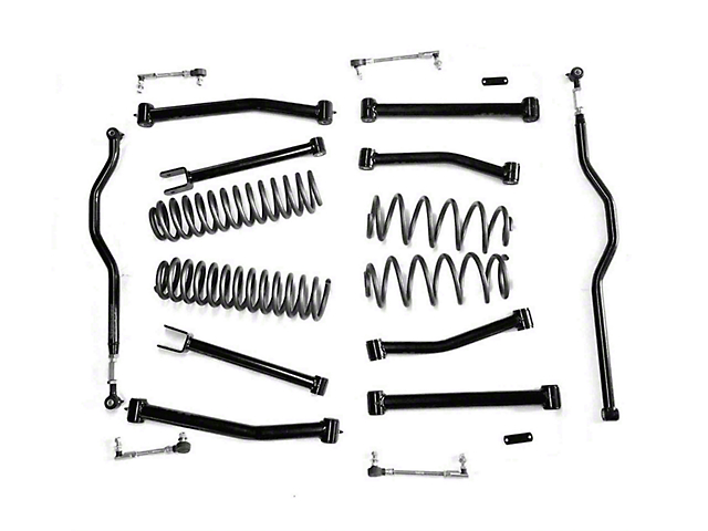 Steinjager 2.50-Inch Advanced Lift Kit; Black (07-18 Jeep Wrangler JK)