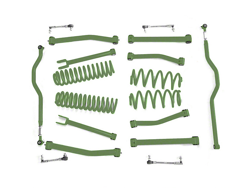 Steinjager 2.5 in. Advanced Lift Kit - Locas Green (07-18 Jeep Wrangler JK)