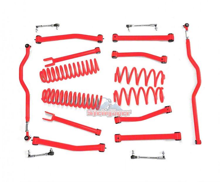 Steinjager 2.5 in. Advanced Lift Kit - Red Baron (07-18 Jeep Wrangler JK)