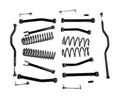 Steinjager 4 in. Advanced Lift Kit for Right Hand Drive - Black (07-18 Jeep Wrangler JK)