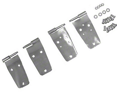 Rugged Ridge Full Door Hinge Set 4 Pcs Stainless Steel (87-93 Wrangler YJ)