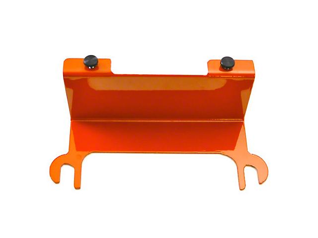 Steinjager License Plate Relocation Kit; Fluorescent Orange (07-18 Jeep Wrangler JK)