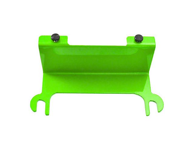Steinjager License Plate Relocation Kit; Neon Green (07-18 Jeep Wrangler JK)