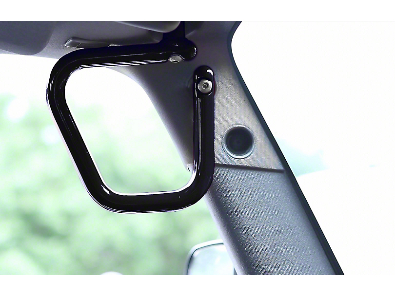 Steinjager Rigid Wire Form Front Grab Handles - Black (07-18 Jeep Wrangler JK)