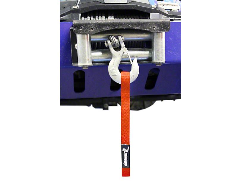 Steinjager Winch Hook Strap; Orange (07-18 Jeep Wrangler JK)