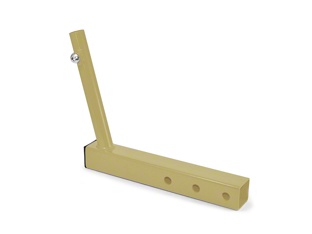 Steinjager Hitch Mounted Single Flag Holder Kit - Military Beige (87-20 Jeep Wrangler YJ, TJ, JK & JL)