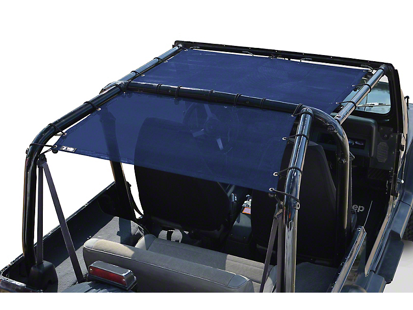 Steinjager Teddy Top Front Seat Solar Screen Cover - Blue (87-95 Jeep Wrangler YJ)