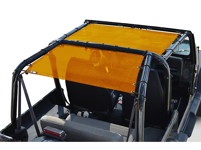 Steinjager Teddy Top Rear Seat Solar Screen Cover; Orange (87-95 Jeep Wrangler YJ)