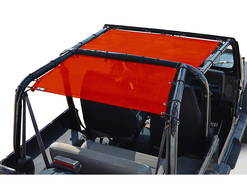 Steinjager Teddy Top Rear Seat Solar Screen Cover - Red (87-95 Jeep Wrangler YJ)