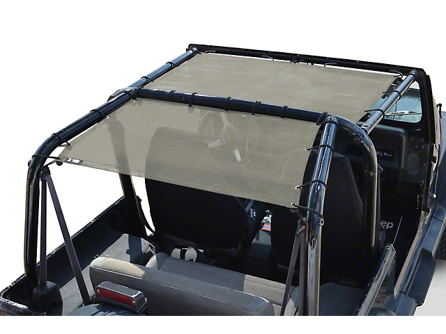 Steinjager Teddy Top Rear Seat Solar Screen Cover - Tan (87-95 Jeep Wrangler YJ)