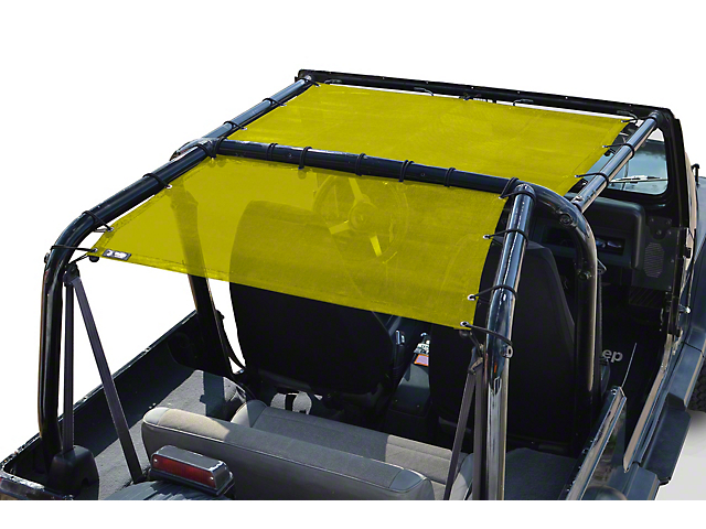 Steinjager Teddy Top Rear Seat Solar Screen Cover; Yellow (87-95 Jeep Wrangler YJ)