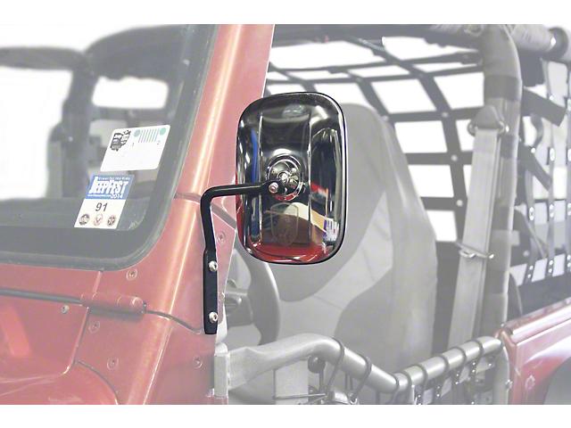 Steinjager A-Pillar Mounted Mirror - Black (97-06 Jeep Wrangler TJ)
