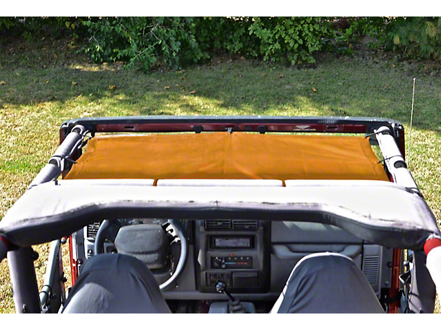 Steinjager Teddy Top Front Seat Solar Screen Cover - Orange (97-06 Jeep Wrangler TJ)