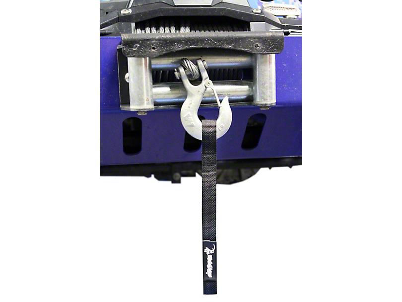 Steinjager Winch Hook Strap; Black (97-06 Jeep Wrangler TJ)