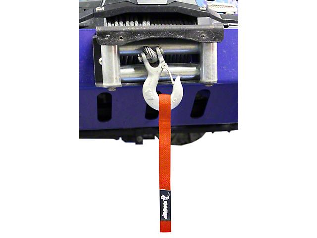 Steinjager Winch Hook Strap; Orange (97-06 Jeep Wrangler TJ)