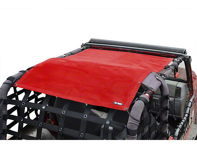 Steinjager Teddy Top Full Length Solar Screen Cover - Red (97-06 Jeep Wrangler TJ, Excluding Unlimited)