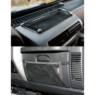 Rugged Ridge Glove Box & Dash Trail Net Kit (97-06 Wrangler TJ)