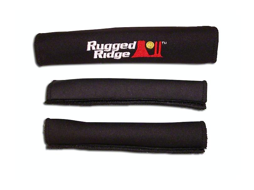 Rugged Ridge Grab Handle Cover Kit - Black (97-06 Jeep Wrangler TJ)