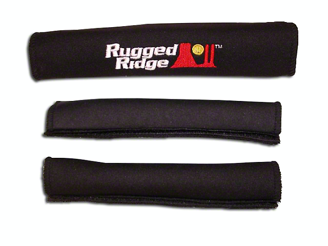 Rugged Ridge Grab Handle Cover Kit - Black (97-06 Jeep Wrangler TJ)