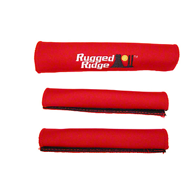 Rugged Ridge Grab Handle Cover Kit - Red (87-95 Jeep Wrangler YJ)
