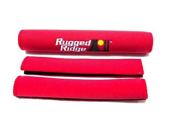 Rugged Ridge Neoprene Grab Handle Covers; Red (97-06 Jeep Wrangler TJ)