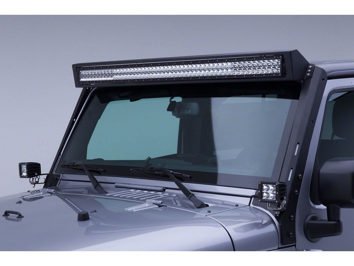 Jeep Wrangler Wlf Windshield Light Frame For 50 Inch Led Light Bar 07 18 Jeep Wrangler Jk