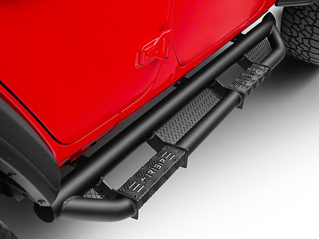 RBP RX-3 Cab Length Side Step Bars; Black (18-20 Jeep Wrangler JL 4 Door)