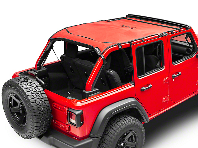 JTopsUSA Mesh Shade Top; Red (18-20 Jeep Wrangler JL 4 Door)