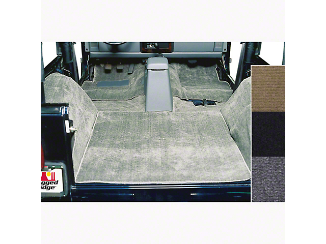 Rugged Ridge Deluxe Complete Carpet Kit - Gray (87-95 Jeep Wrangler YJ)