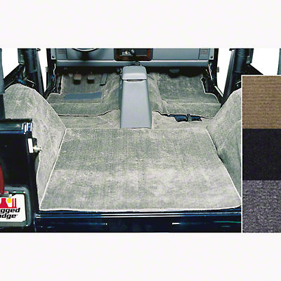 Rugged Ridge Deluxe Complete Carpet Kit - Gray (87-95 Wrangler YJ)