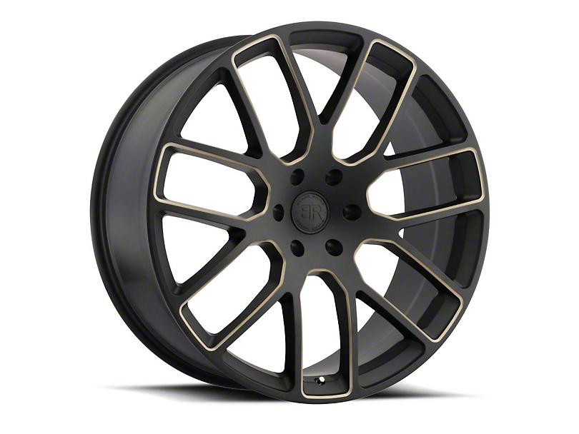 Black Rhino Kunene Matte Black Dart Tint Milled Wheel - 22x9.5 (97-06 Jeep Wrangler TJ)