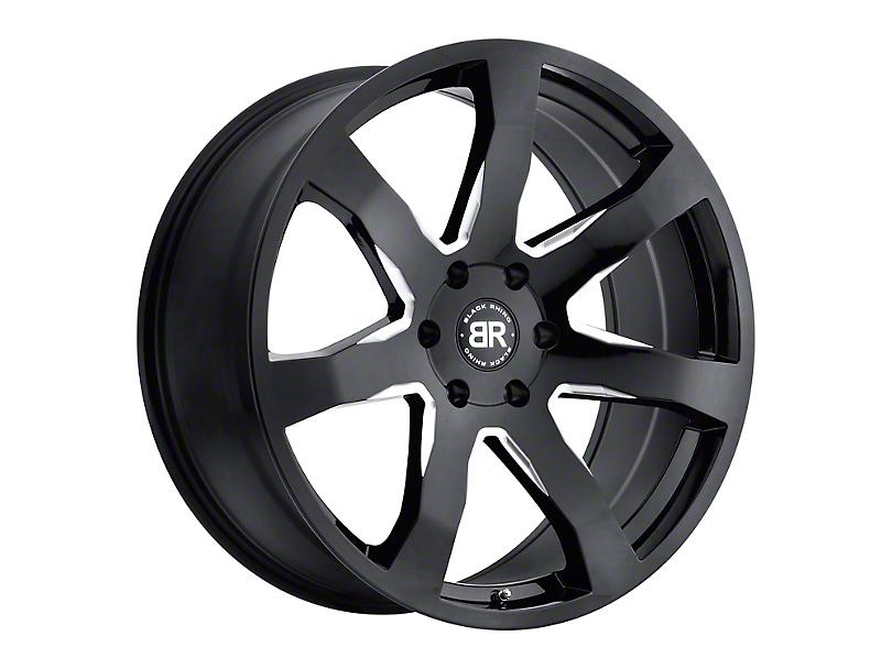 Black Rhino Mozambique Gloss Black Milled Wheel - 20x8.5 (97-06 Jeep Wrangler TJ)