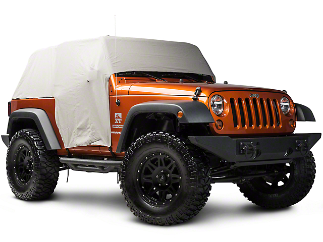 Rugged Ridge Gray Vinyl Water Resistant Cab Cover (07-18 Jeep Wrangler JK 2 Door)